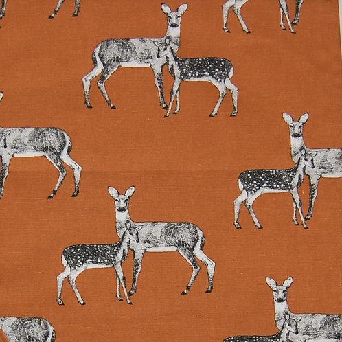 Deer apron orange background