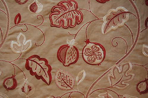 Jane Churchill Embroidered Santana Red