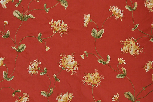 Colefax & Fowler Embroidered Tisbury Coral