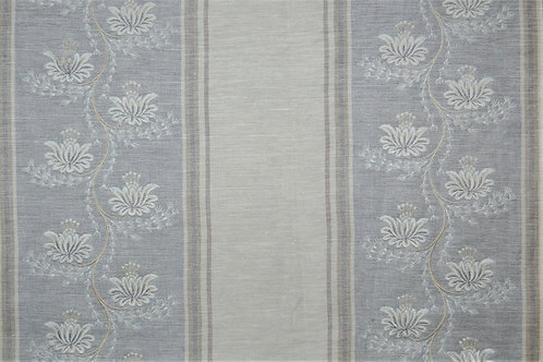 Colefax & Fowler Embroidered Fairmont Blue