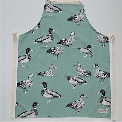 Duck apron duck egg background