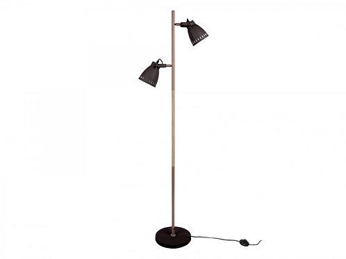Stehlampe mit Holz-Akzent