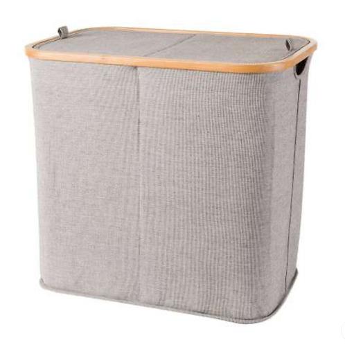 Wäschekorb mit Bambusrahmen