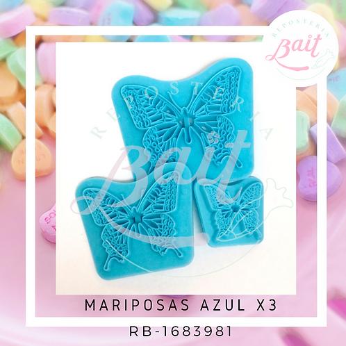 Mariposas Azul X3