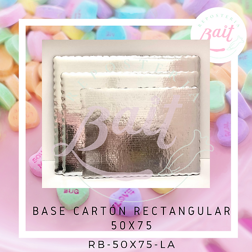 Base cartón rectangular 50x75