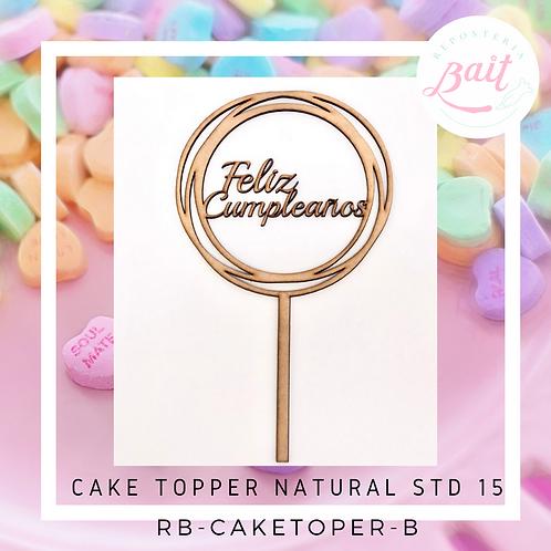 CAKE TOPPER NATURAL STD