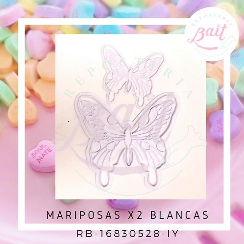 Mariposas X2 Blancas