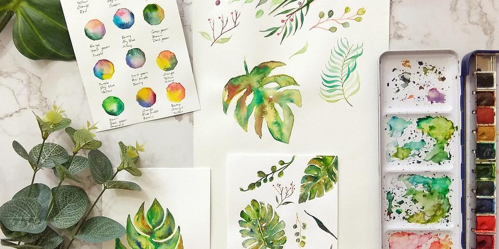 自選水彩工作坊 Optional Watercolor Workshop