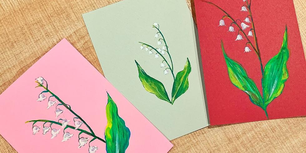 冬日花語・不透明水彩花繪工作坊(鈴蘭及三色堇主題)Gouache Painting Workshop (Lily of the Valley & Pansy)