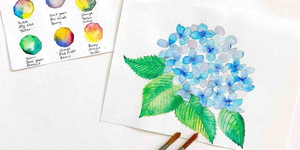 夏日花語・繡球花主題工作坊 Watercolor Hydrangeas Workshop