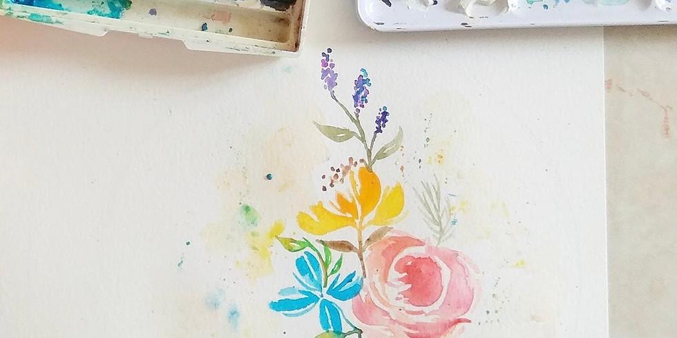 夏日花語・糖果色水彩花環工作坊 Watercolor Pastel Wreath Workshop