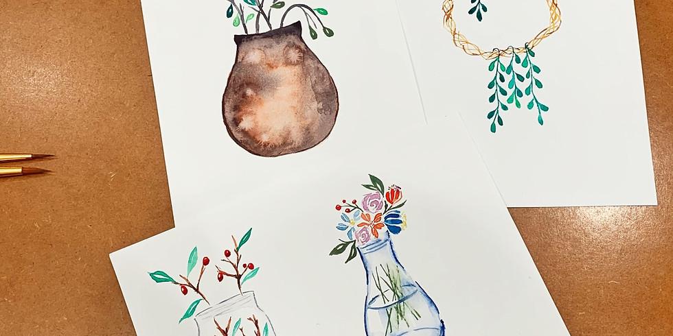 夏日花語・水彩北歐植物課 Watercolor Plants Workshop