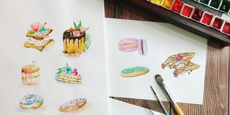 水彩甜點工作坊 Watercolor Desserts Workshop
