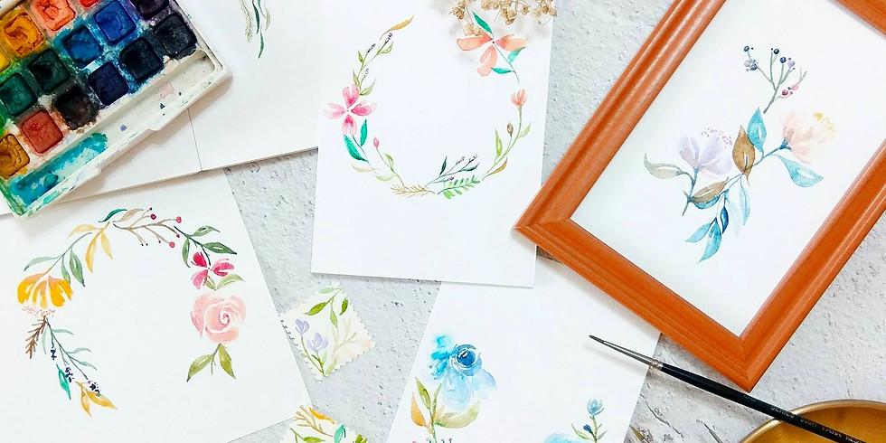 秋日花語・水彩花環工作坊 Watercolor Wreath Workshop