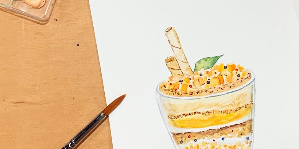 夏日時光・芒果甜點水彩工作坊 Watercolor Desserts Workshop