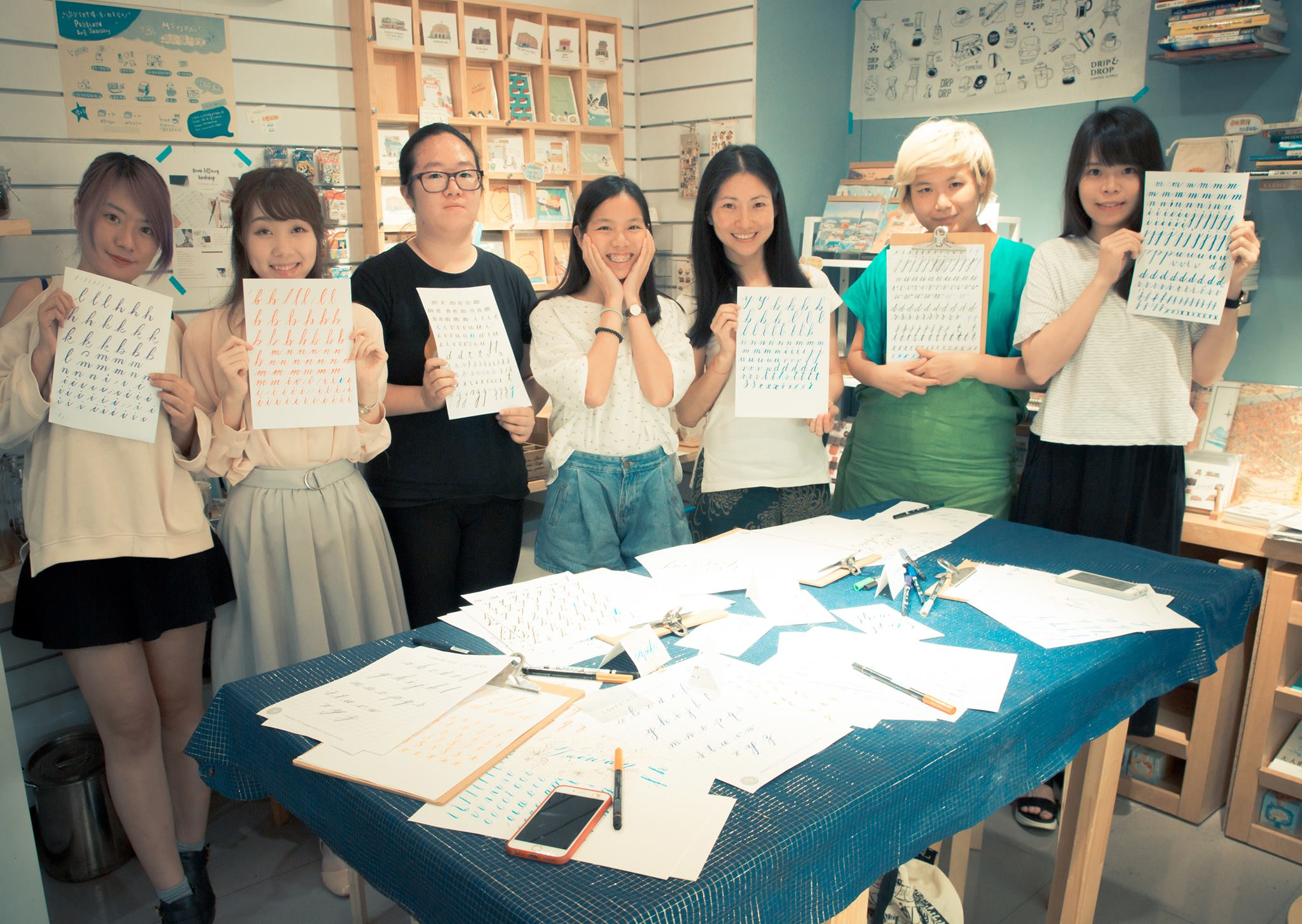 Brush Lettering Workshop in Taipei