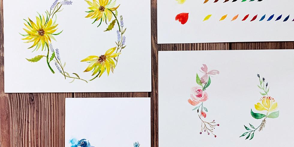 夏日花語・水彩花圈工作坊 Watercolor Wreath Workshop