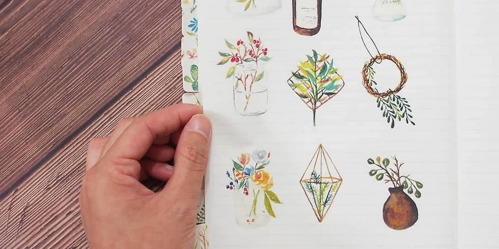 春日花語・水彩北歐植物課 Watercolor Plants Workshop