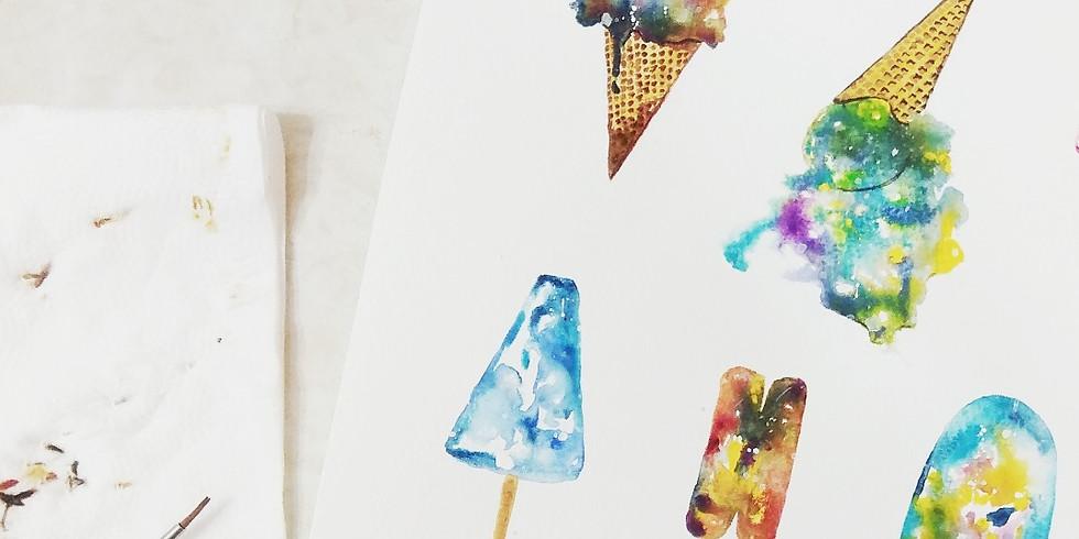 水彩星空雪糕球工作坊 Galaxies Ice-cream Workshop