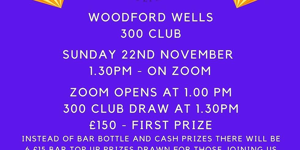 Woodford Wells 300 Club Draw