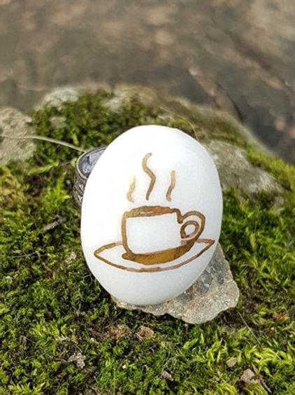 Porcelaine ring cup of tea design