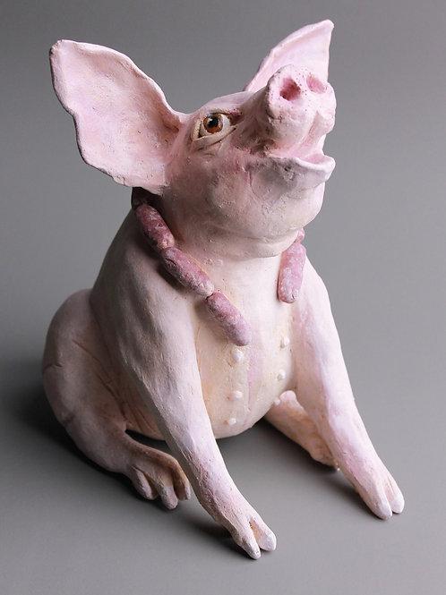 Pig sculpture, unique piece