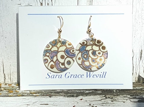 Large porcelaine earrings