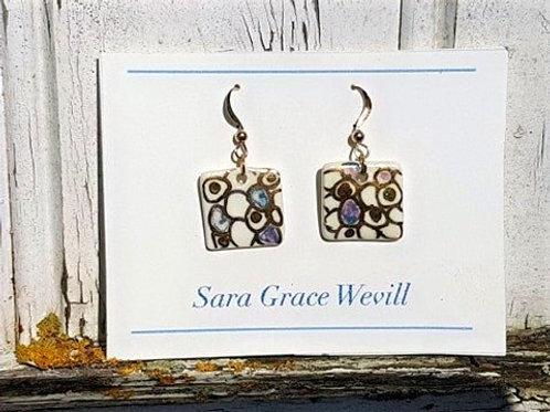 Porcelaine earrings
