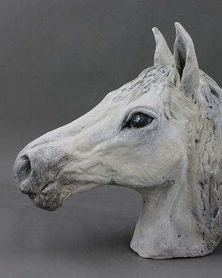Sculpture buste de cheval andaloux
