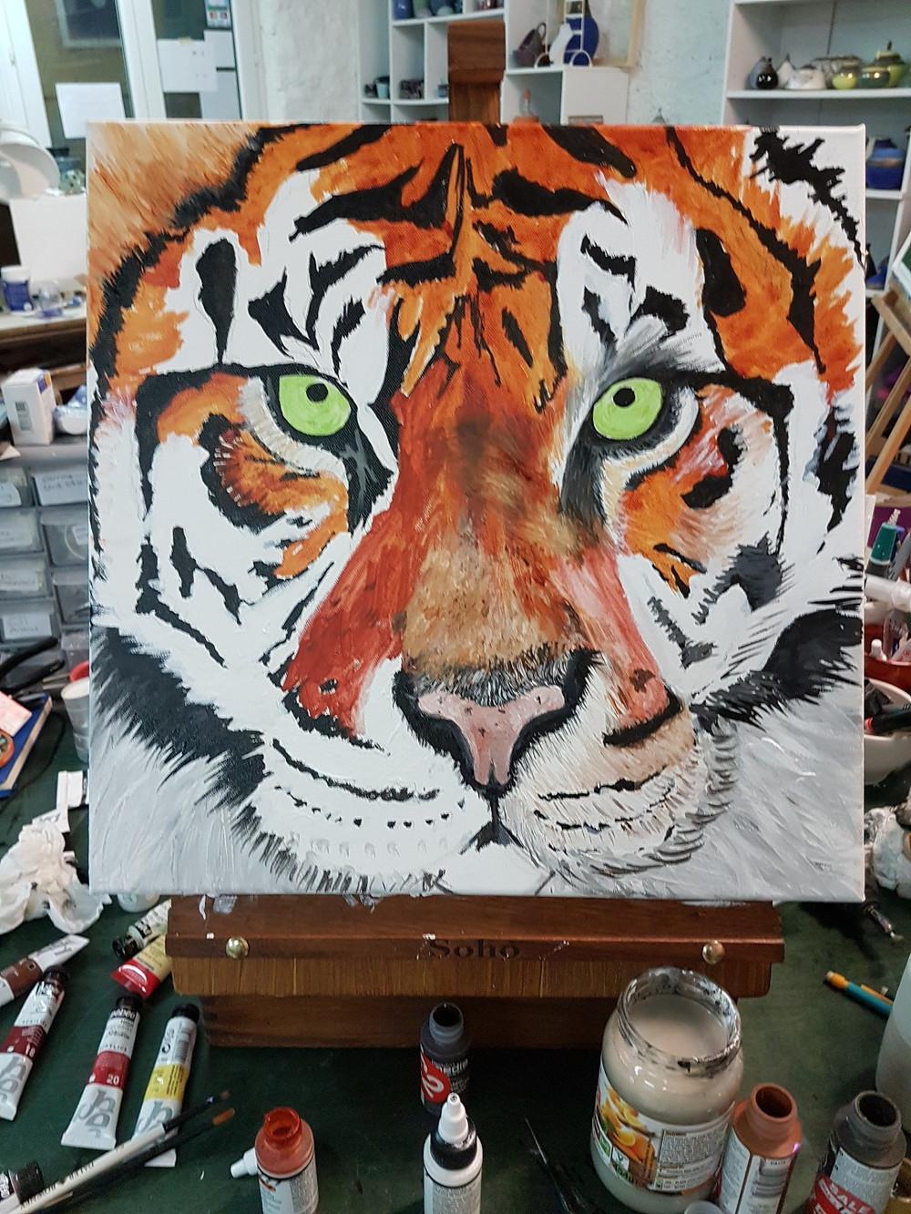 tiger in progress