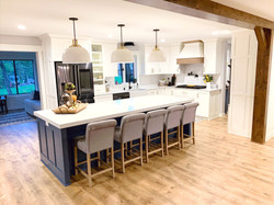Painted Kitchen & Large Island