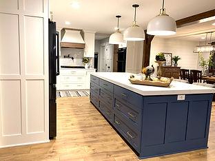 White Kitchen and Blue Island