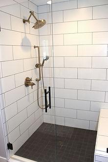 Cusom Tile Shower with Glass Door