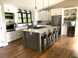 Painted Kitchen & Black Window
