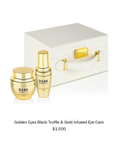 Golden Eyes Black Truffle & Gold Infused