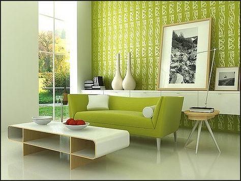 קיר ירוק צבוע סלון.jpg