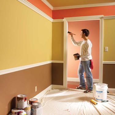 חלוקת קיר בצבעים וקרניזים.jpg