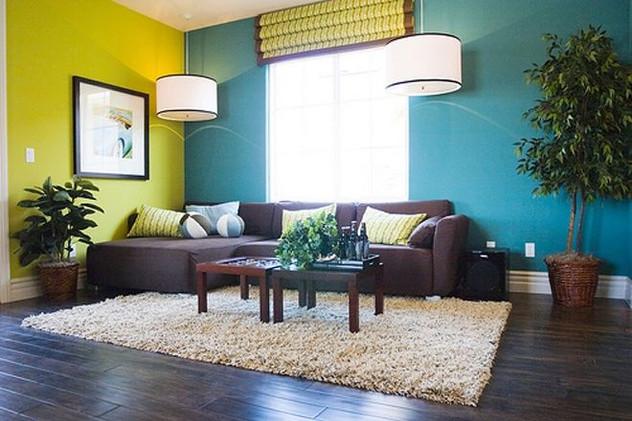 צביעת דירה בגוונים של כחול ירוק.jpg