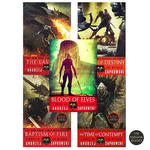 The Witcher 5-Book Starter Bundle (The Witcher # 0.5-3) by Andrzej Sapkowski