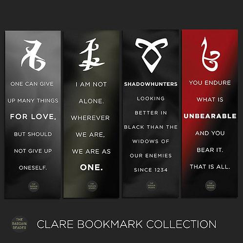 Mortal Instruments (Cassandra Clare) Rune Bookmarks Bundle