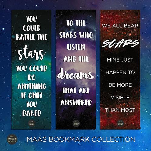 [3 BOOKMARKS] The Sarah J. Maas (Stars and Scars) Bookmark Bundle