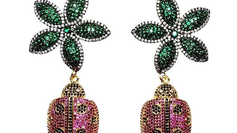 Happy Ladybug Earrings