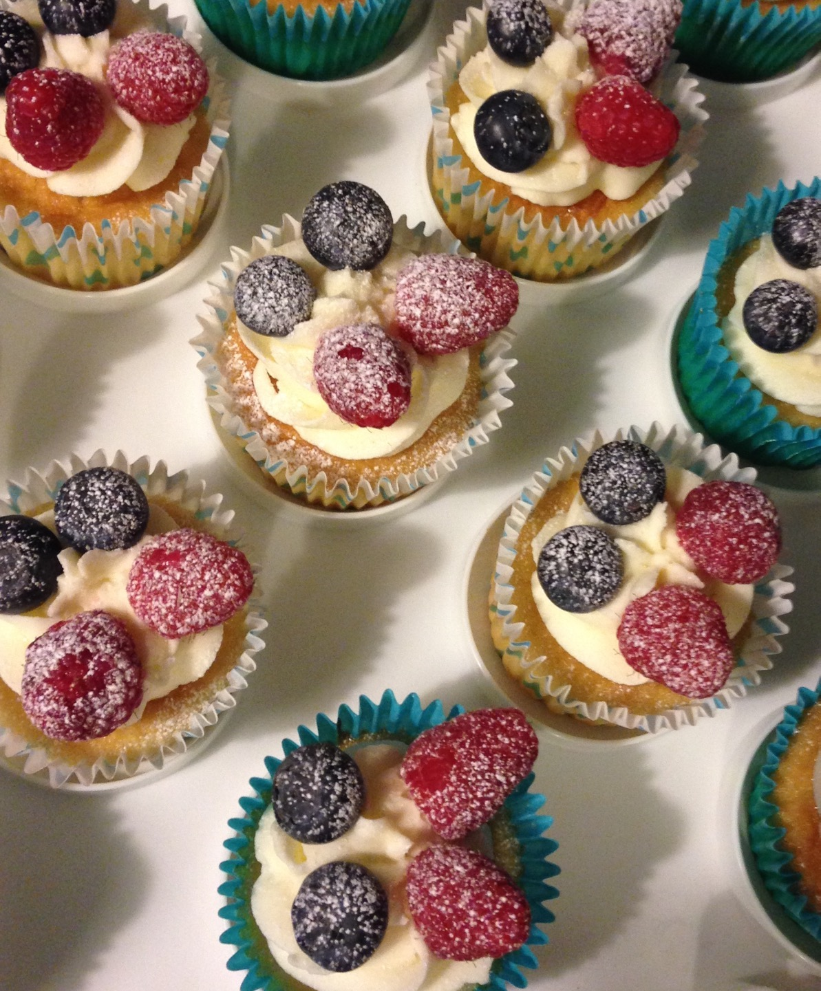 Summer Berry Cupcakes