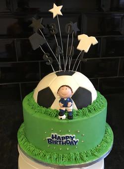 Football Piñata Cake