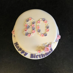 80th Birthday Cake