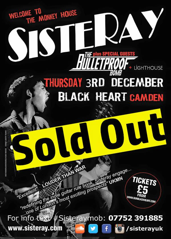 LONDON SHOW SOLD OUT!