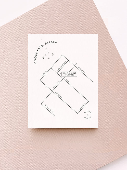 celeste minimal map card