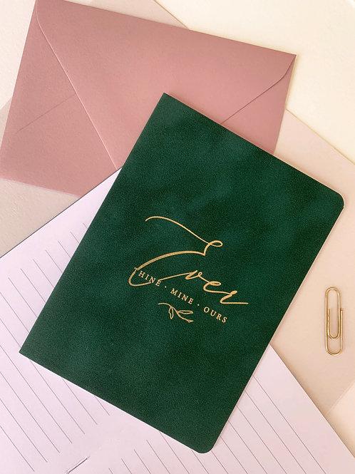 velvet jewel toned vow booklets