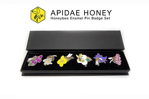 Honeybee Enamel Pin Badge Set