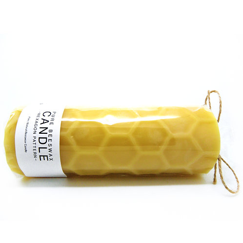 Hexagon Pattern  Beeswax Candles